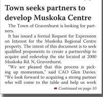 Town seeks partners